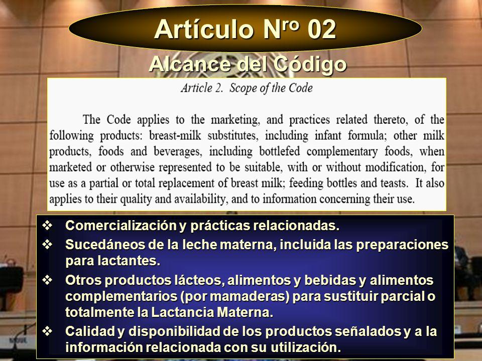Artículo Nro 02 Alcance del Código
