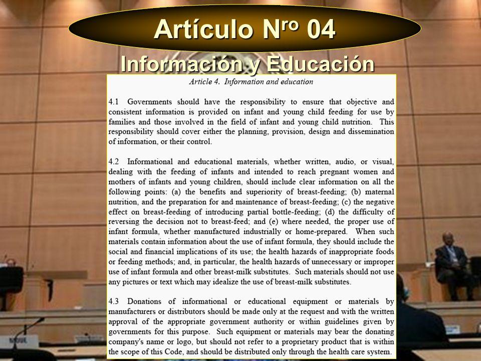 Información y Educación