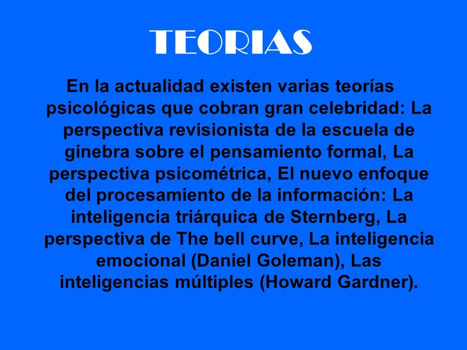 TEORIAS