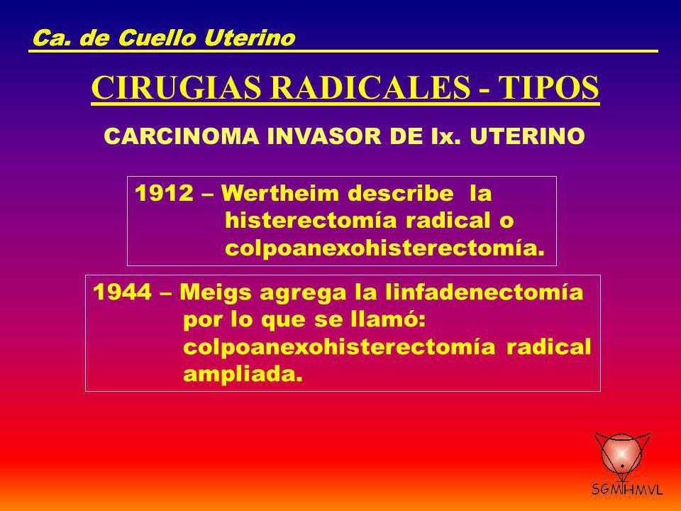 CIRUGIAS RADICALES - TIPOS