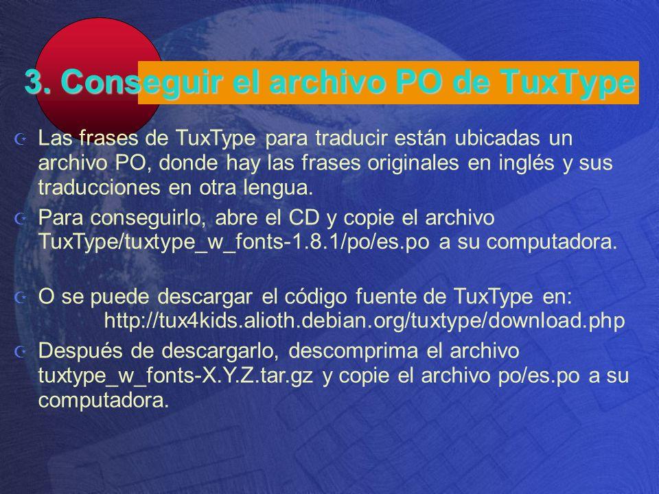 3. Conseguir el archivo PO de TuxType