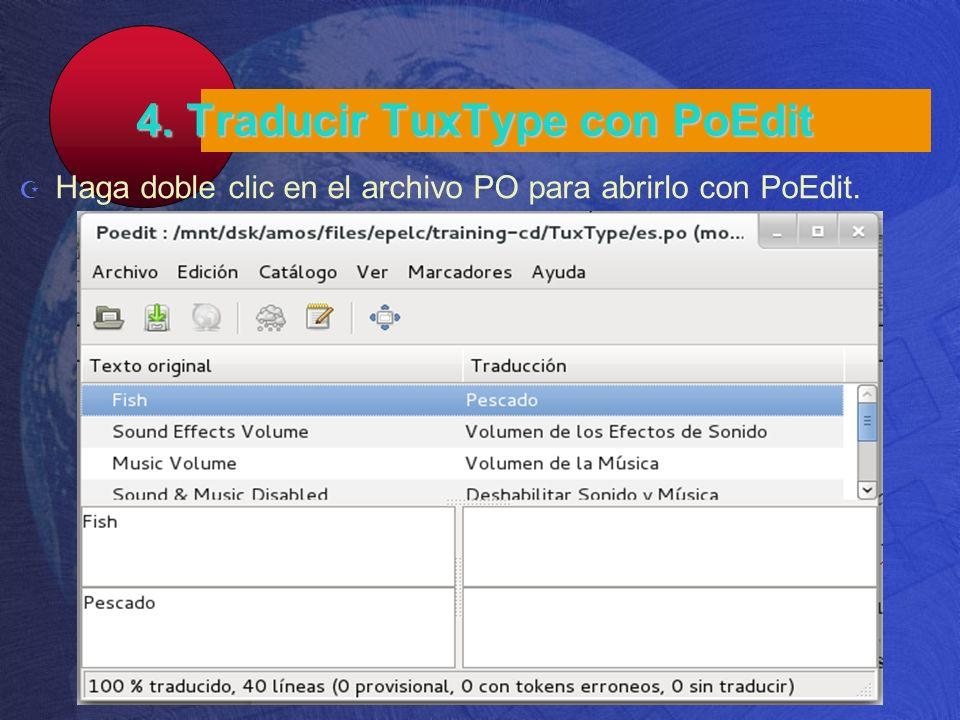 4. Traducir TuxType con PoEdit