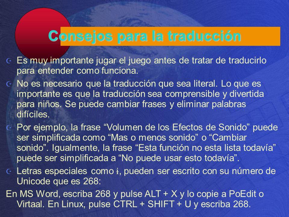 Consejos para la traducción