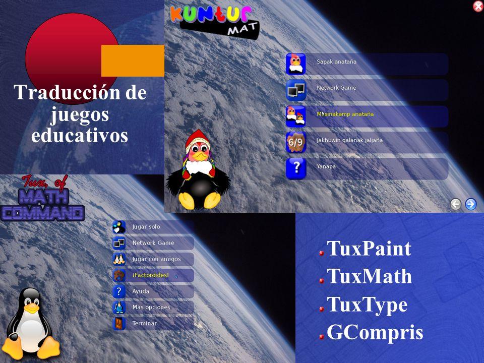 Traducción de juegos educativos
