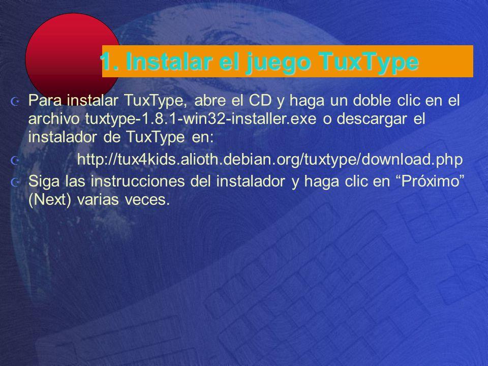 1. Instalar el juego TuxType