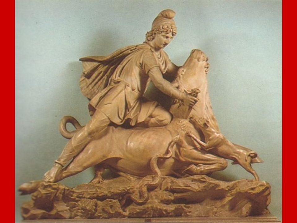 XIX. Mithra El Maestro señala entonces el Cuadro representando la inmolación del toro por parte de Mithra. Y dice: