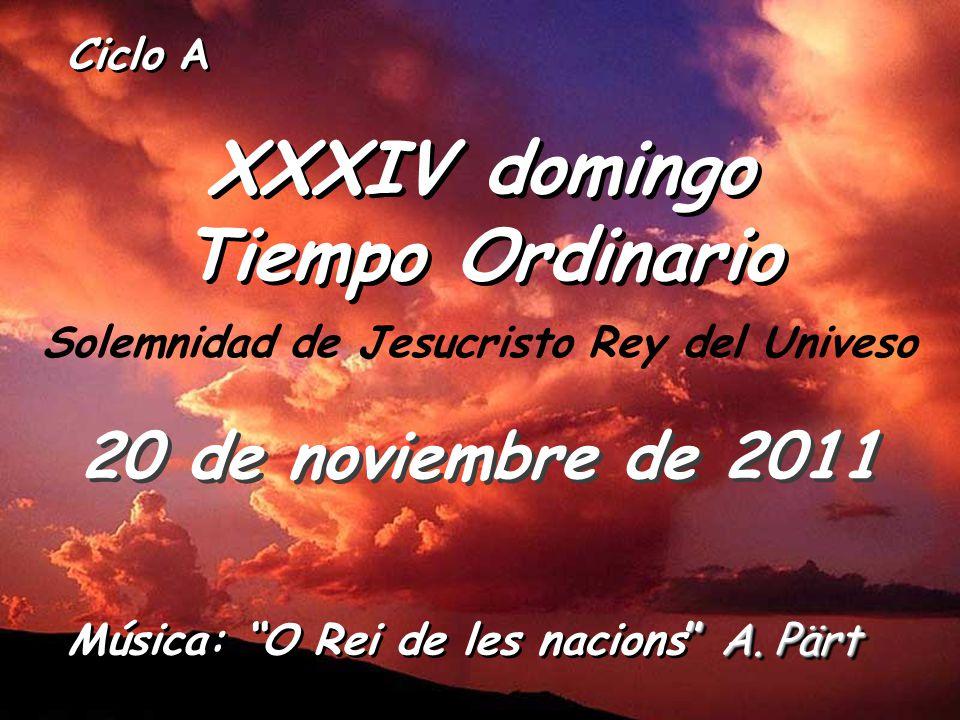 XXXIV domingo Tiempo Ordinario