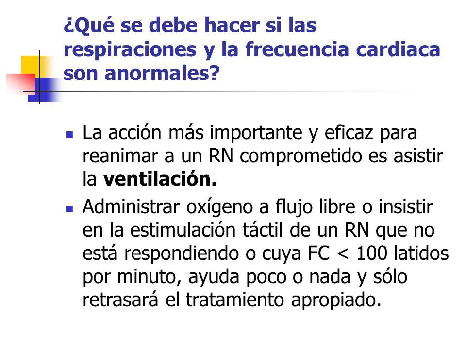 ¿Qué se debe hacer si las respiraciones y la frecuencia cardiaca son anormales