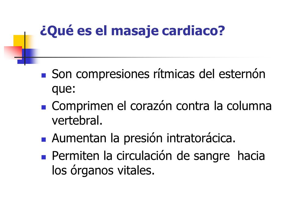 ¿Qué es el masaje cardiaco