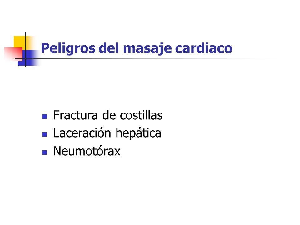 Peligros del masaje cardiaco