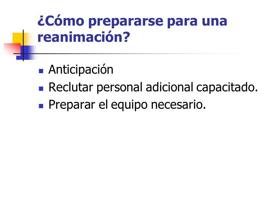 ¿Cómo prepararse para una reanimación