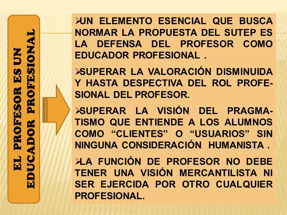 EL PROFESOR ES UN EDUCADOR PROFESIONAL