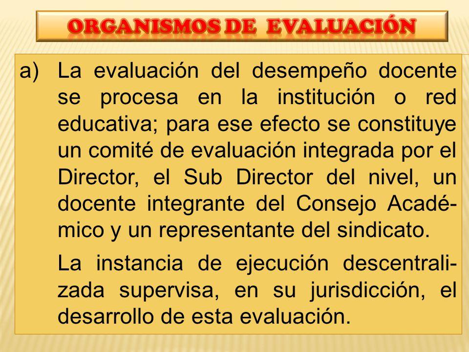 ORGANISMOS De evaluación