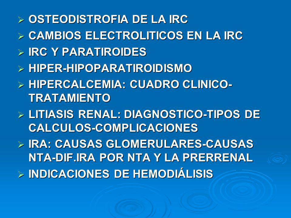 OSTEODISTROFIA DE LA IRC