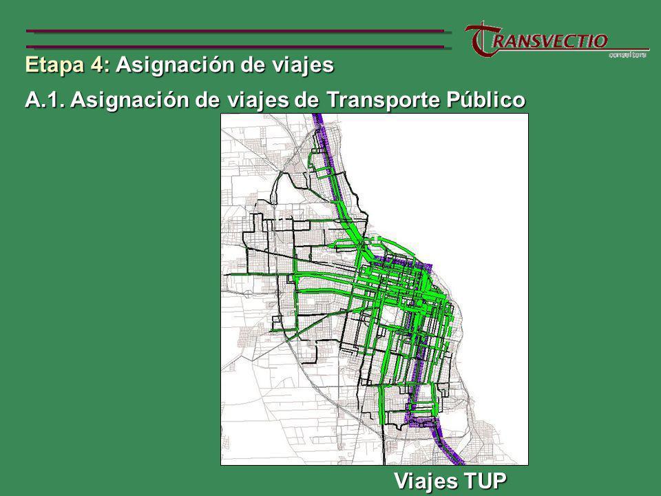A.1. Asignación de viajes de Transporte Público