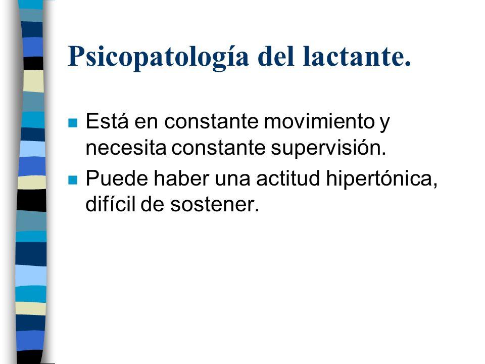 Psicopatología del lactante.