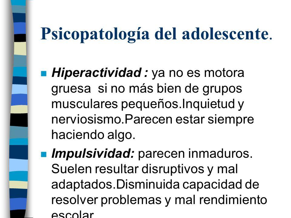 Psicopatología del adolescente.