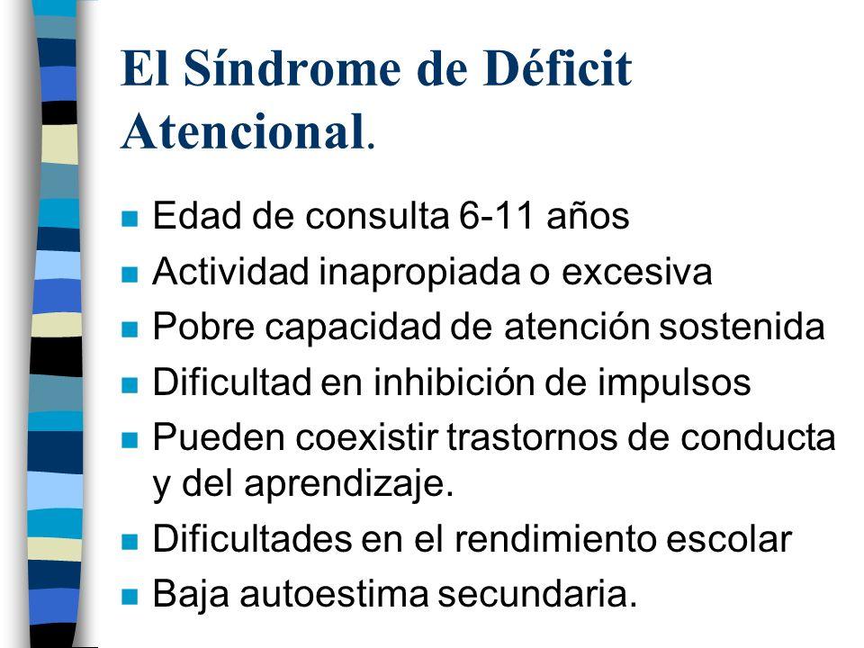 El Síndrome de Déficit Atencional.