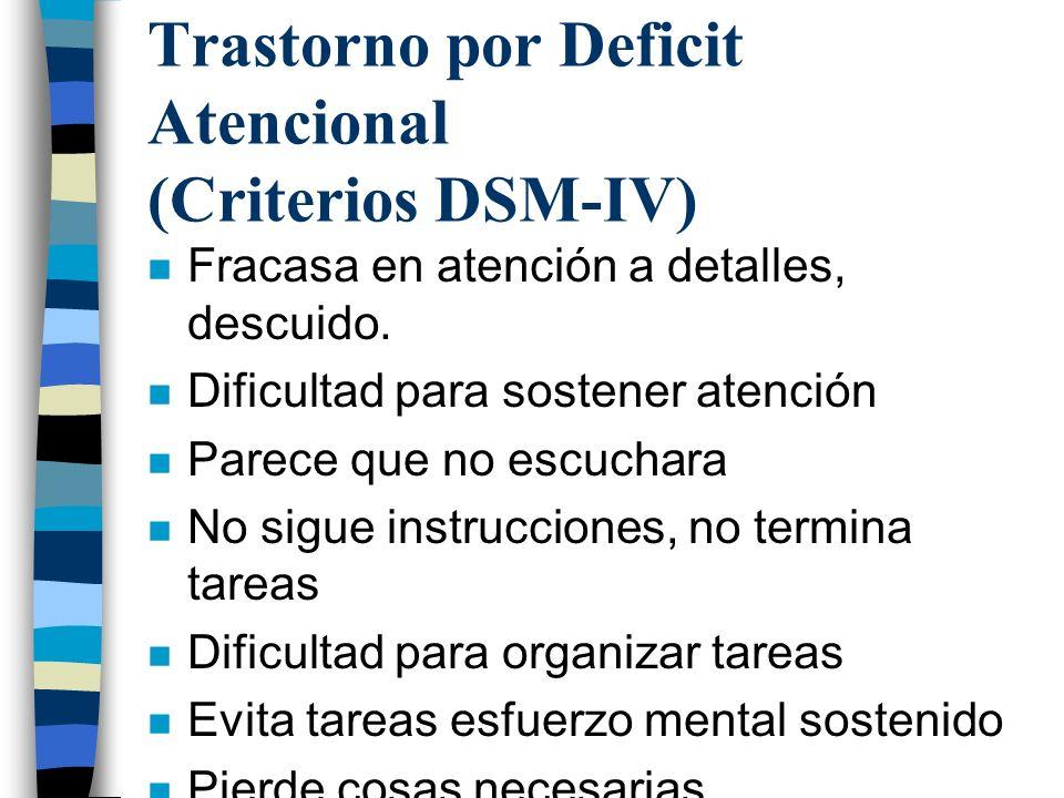 Trastorno por Deficit Atencional (Criterios DSM-IV)
