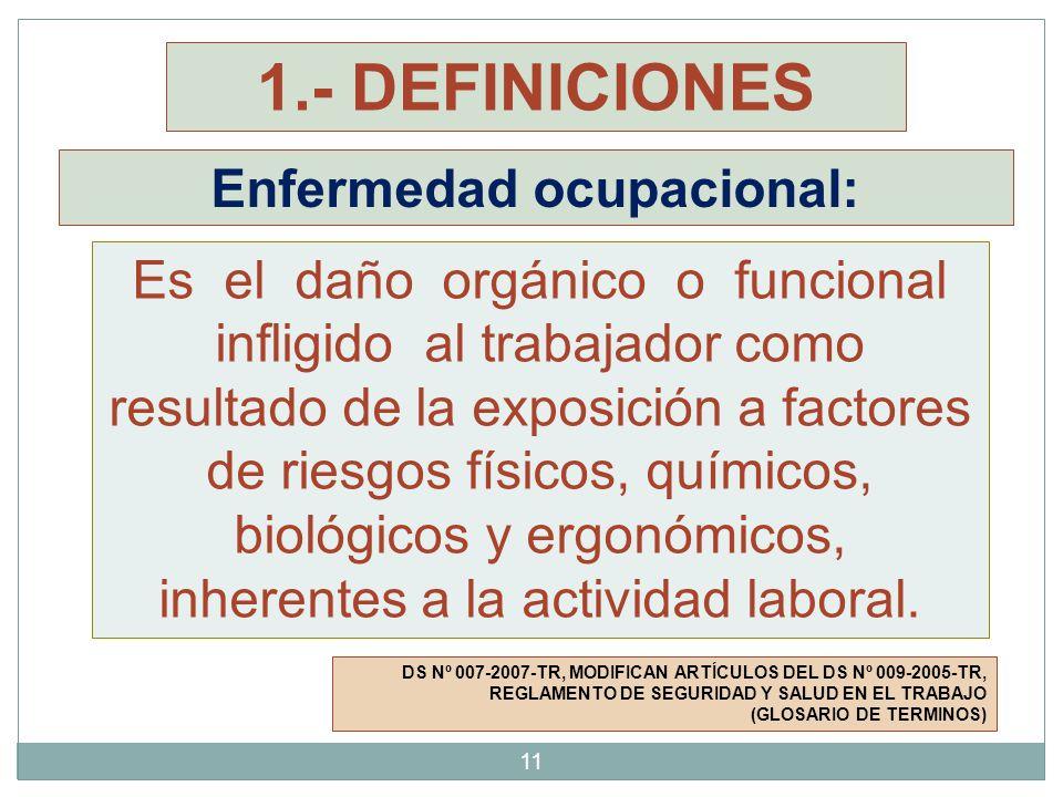 Enfermedad ocupacional: