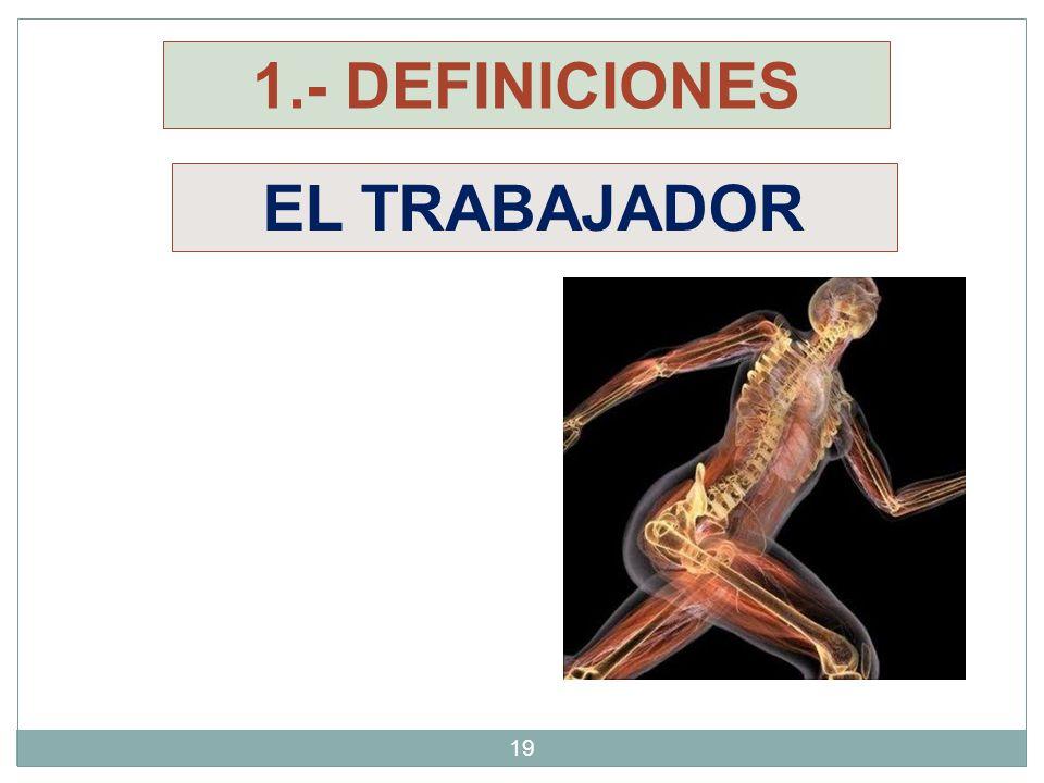 1.- DEFINICIONES EL TRABAJADOR