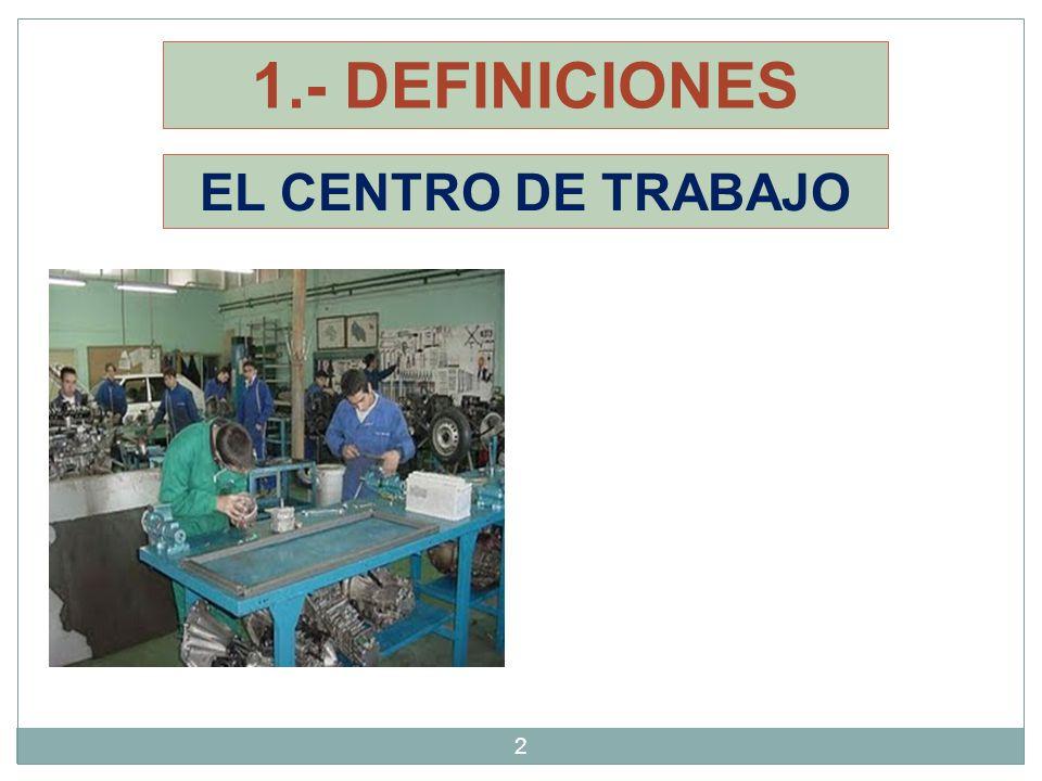 1.- DEFINICIONES EL CENTRO DE TRABAJO