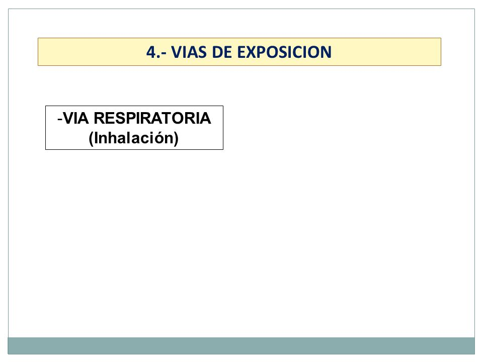 VIA RESPIRATORIA (Inhalación)