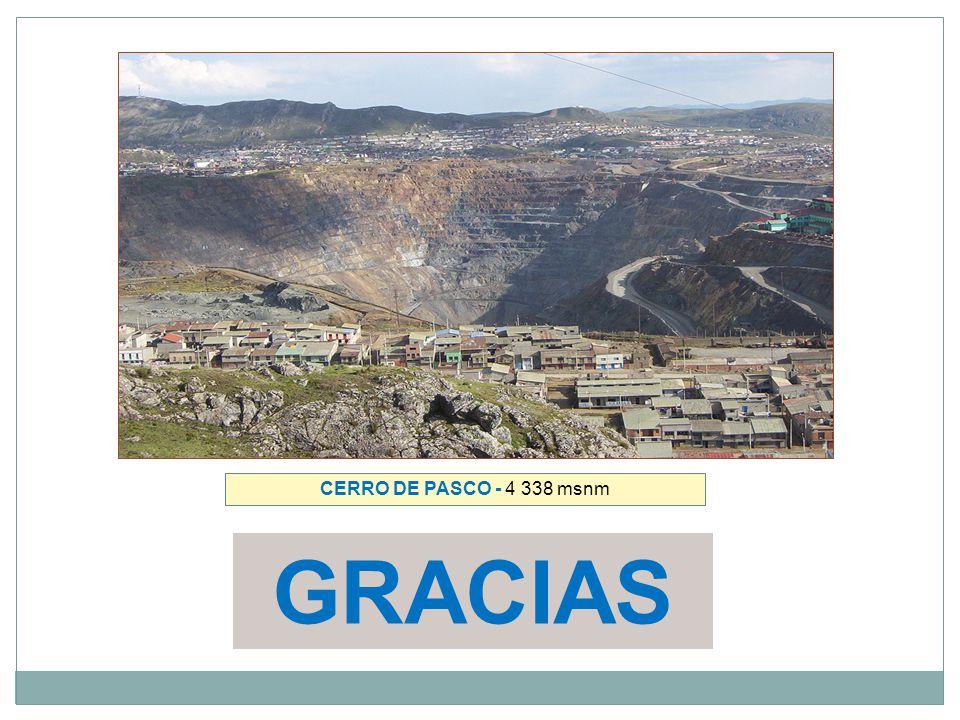 CERRO DE PASCO - 4 338 msnm GRACIAS