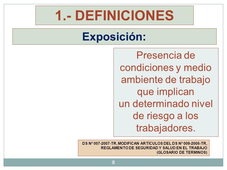 1.- DEFINICIONES Exposición: