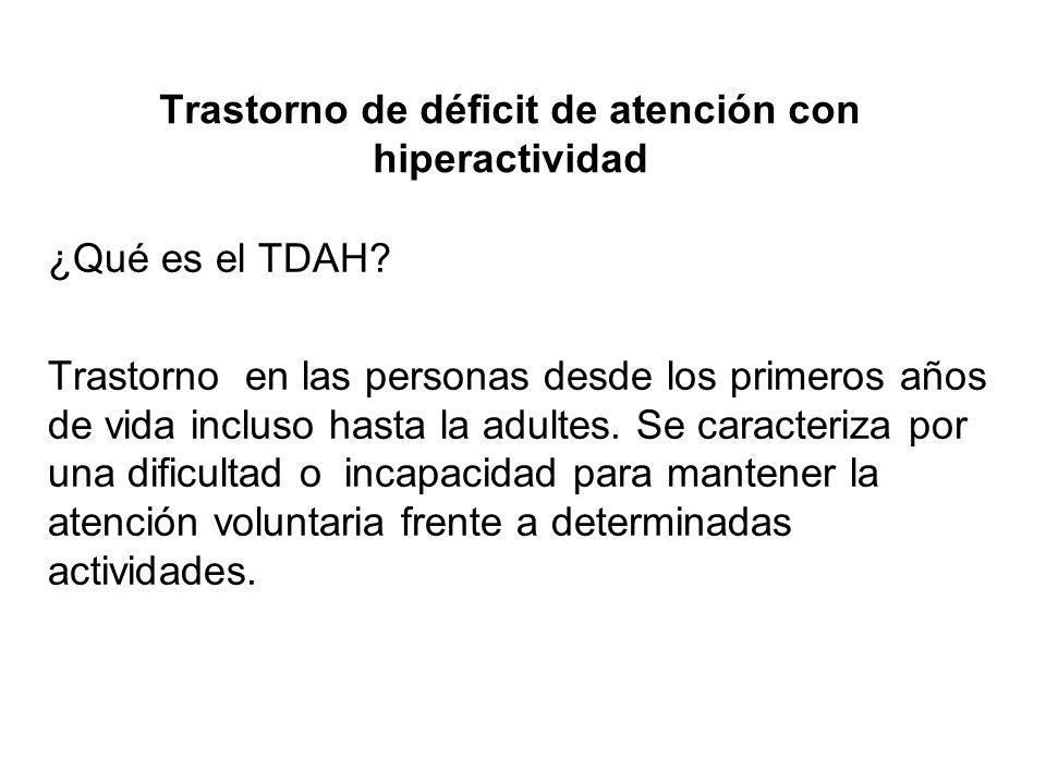Trastorno de déficit de atención con hiperactividad
