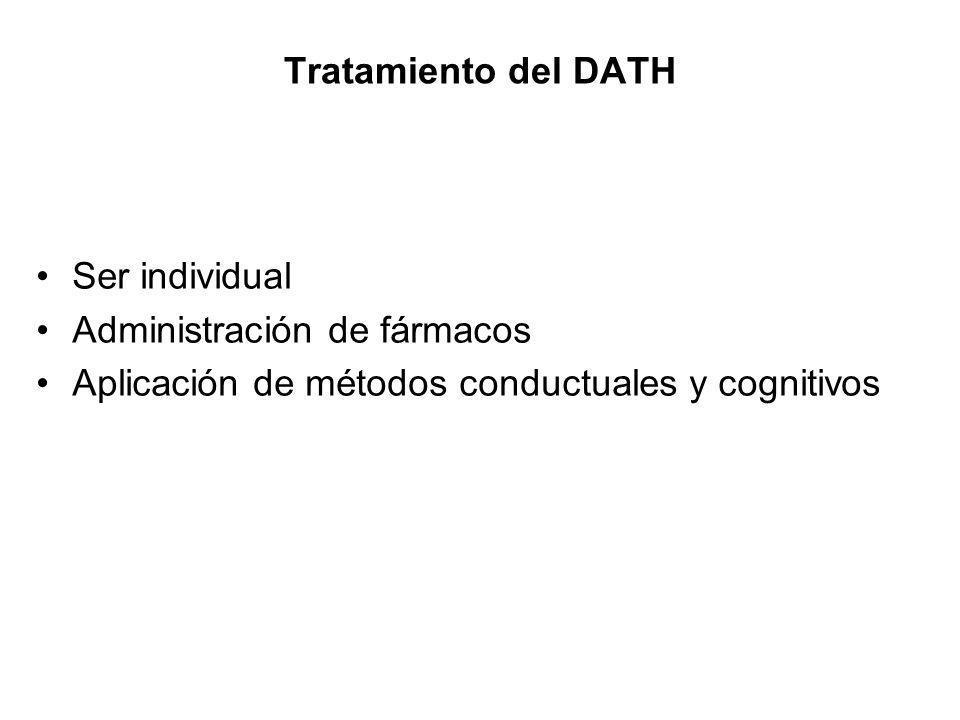 Tratamiento del DATH Ser individual. Administración de fármacos.