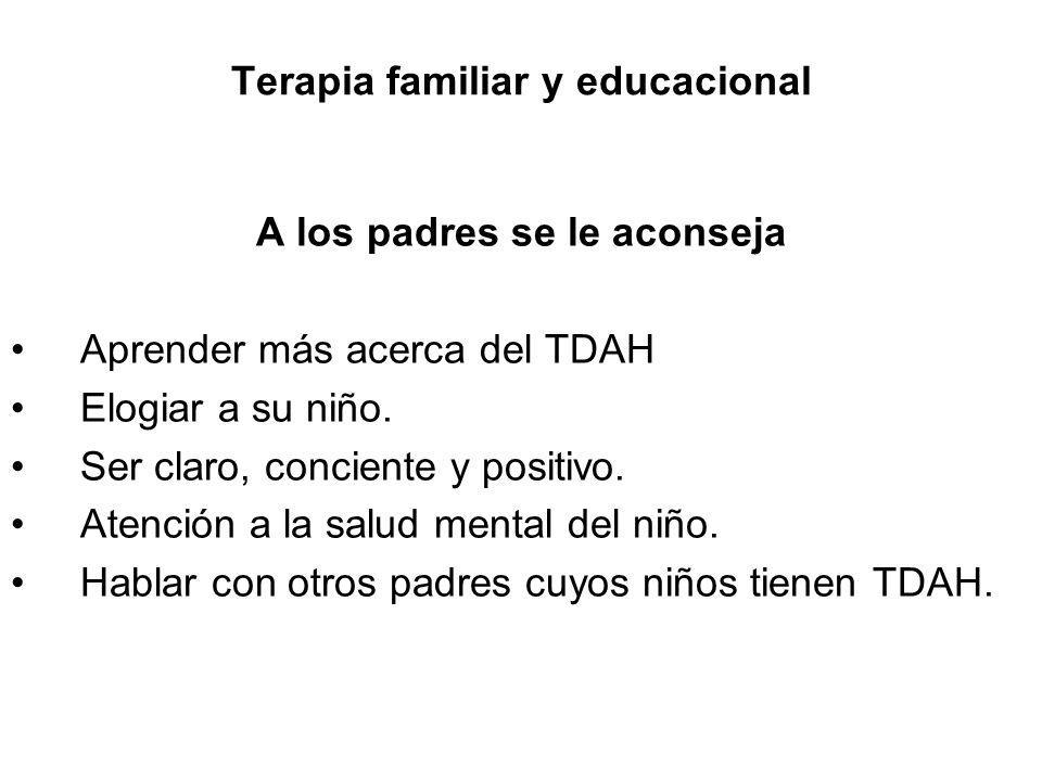 Terapia familiar y educacional