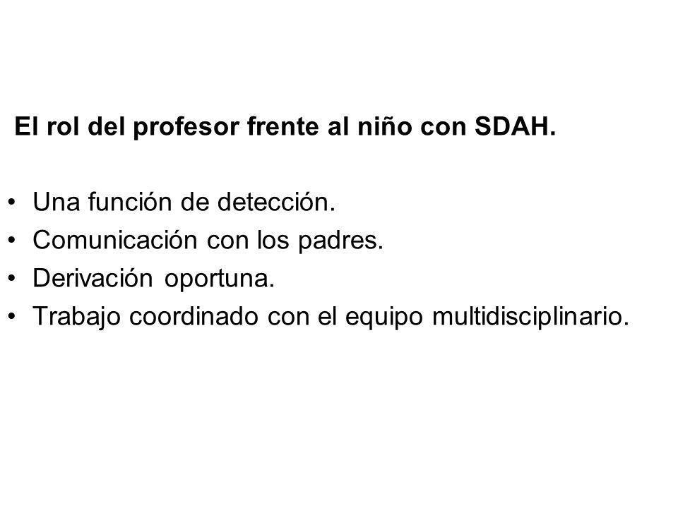 El rol del profesor frente al niño con SDAH.