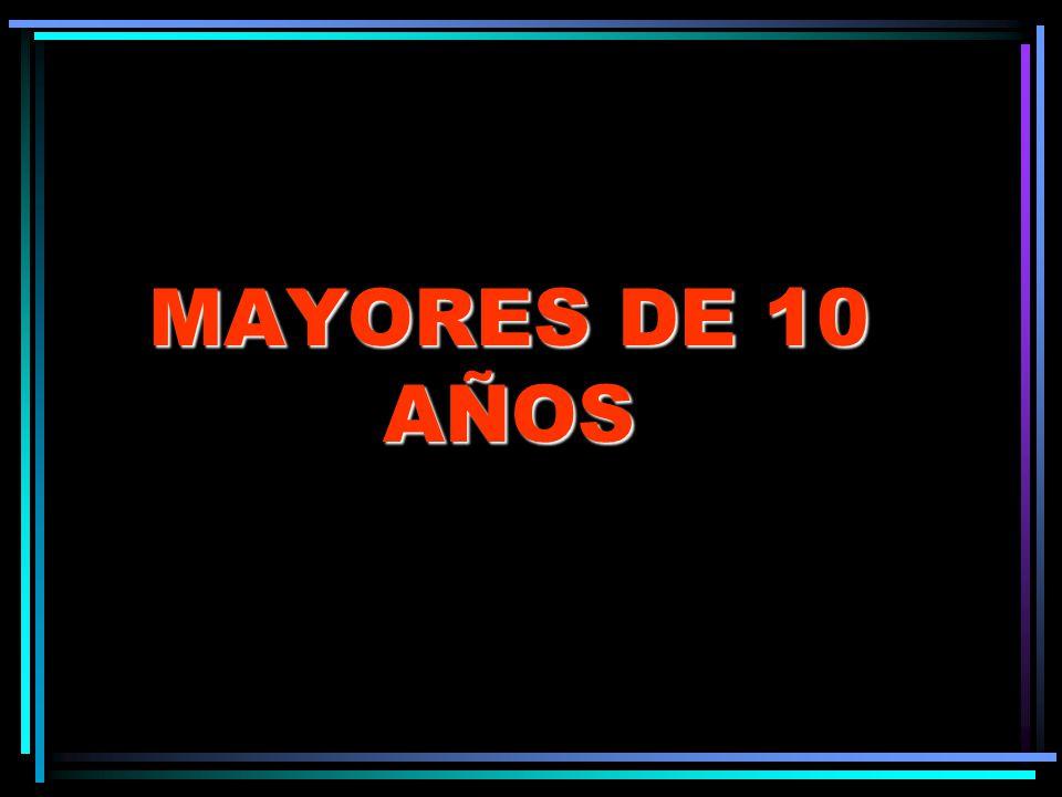 MAYORES DE 10 AÑOS