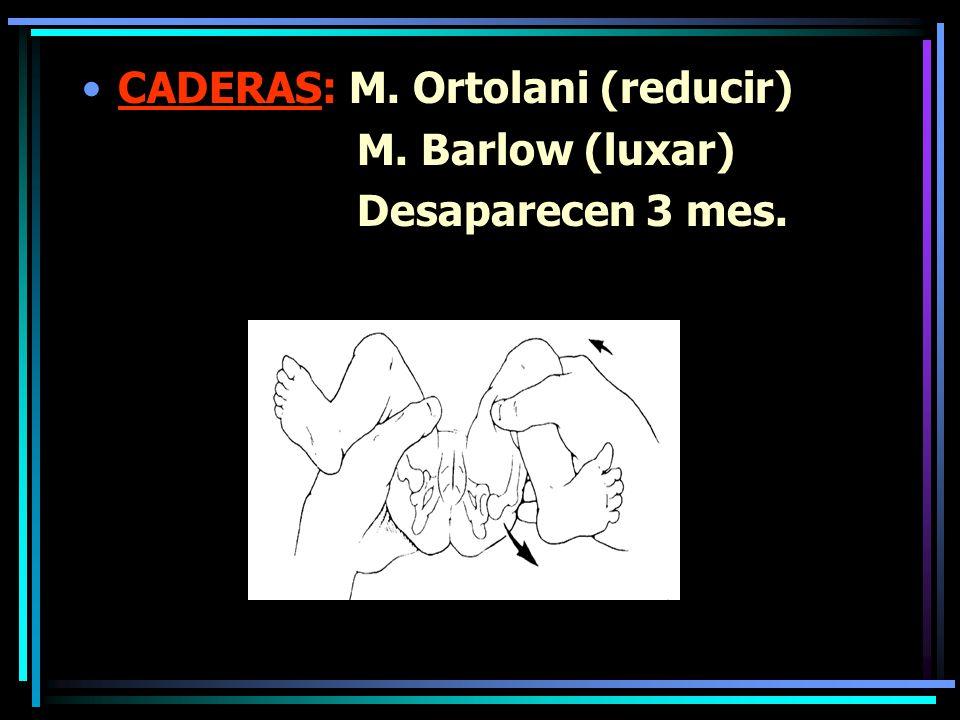 CADERAS: M. Ortolani (reducir)