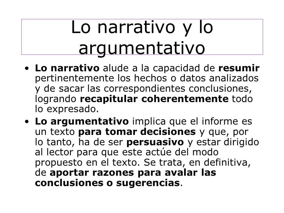 Lo narrativo y lo argumentativo