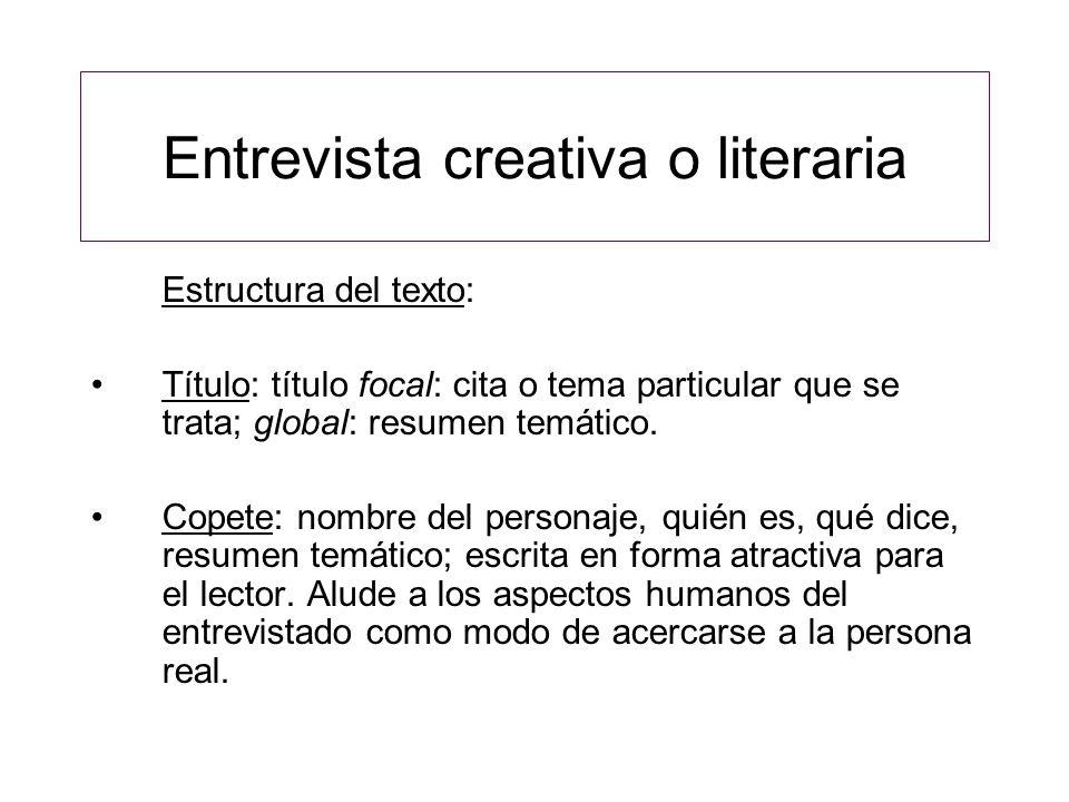 Entrevista creativa o literaria