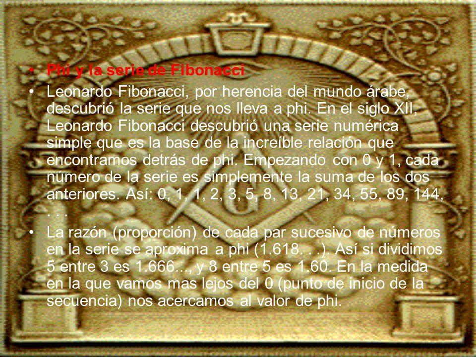 Phi y la serie de Fibonacci