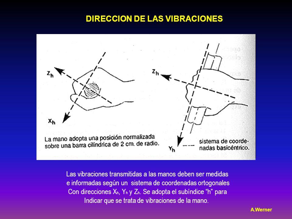 DIRECCION DE LAS VIBRACIONES