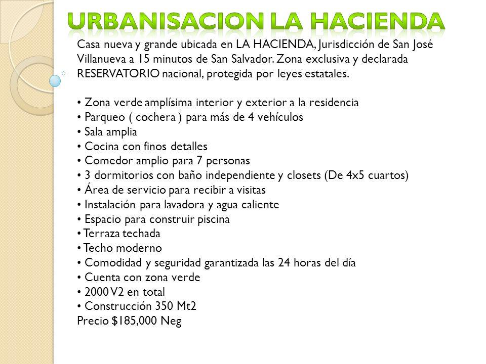 Urbanisacion La hacienda