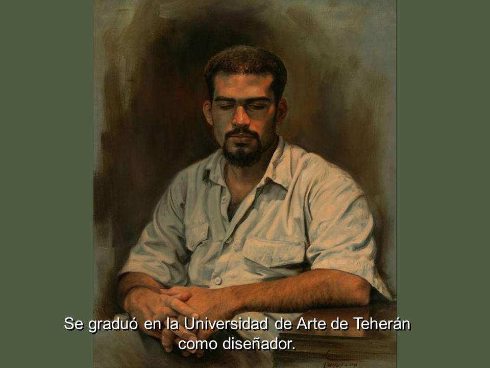 Se graduó en la Universidad de Arte de Teherán como diseñador.