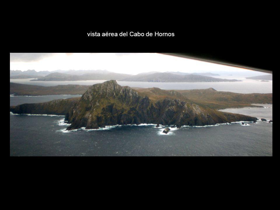 vista aérea del Cabo de Hornos