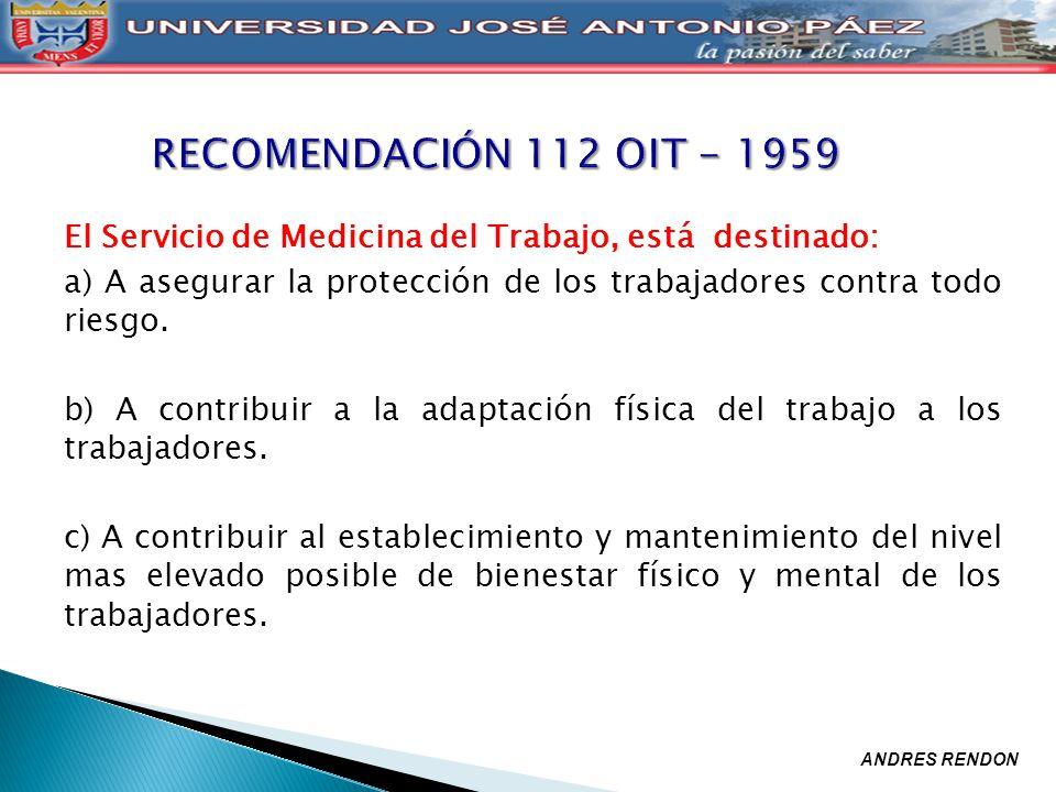 RECOMENDACIÓN 112 OIT - 1959