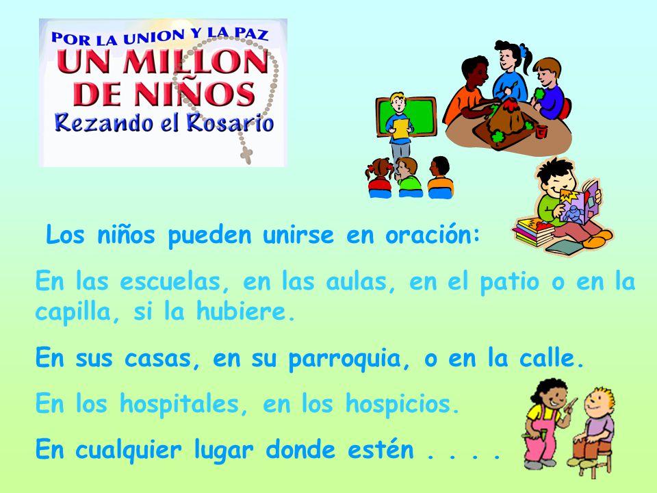 Los niños pueden unirse en oración: