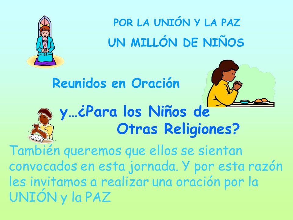 y…¿Para los Niños de Otras Religiones Reunidos en Oración