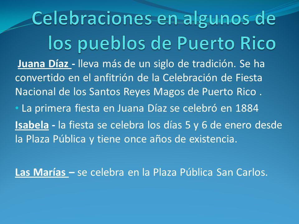 Celebraciones en algunos de los pueblos de Puerto Rico