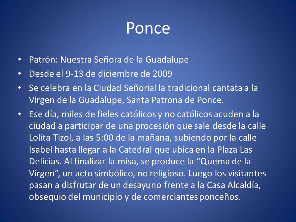 Ponce Patrón: Nuestra Señora de la Guadalupe