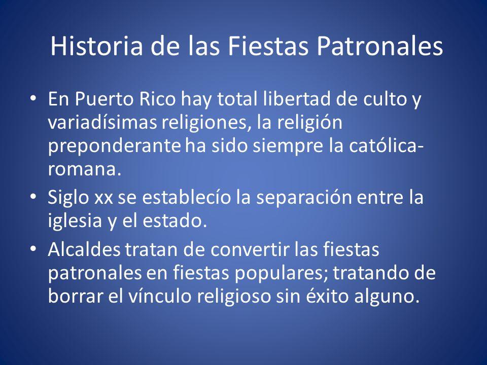 Historia de las Fiestas Patronales