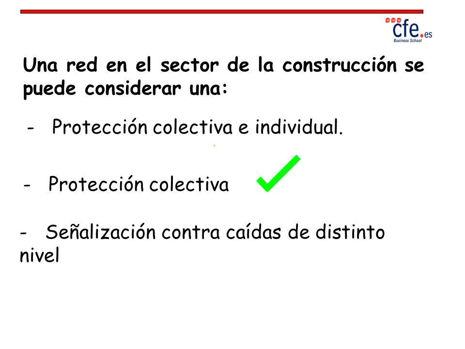 Una red en el sector de la construcción se puede considerar una: