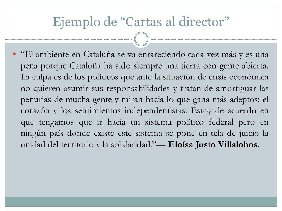 Ejemplo de Cartas al director